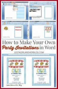 Learn How To Make Your Own Party Invitations In Microsoft Word This Tutorial Makes It So Easy Click Through See