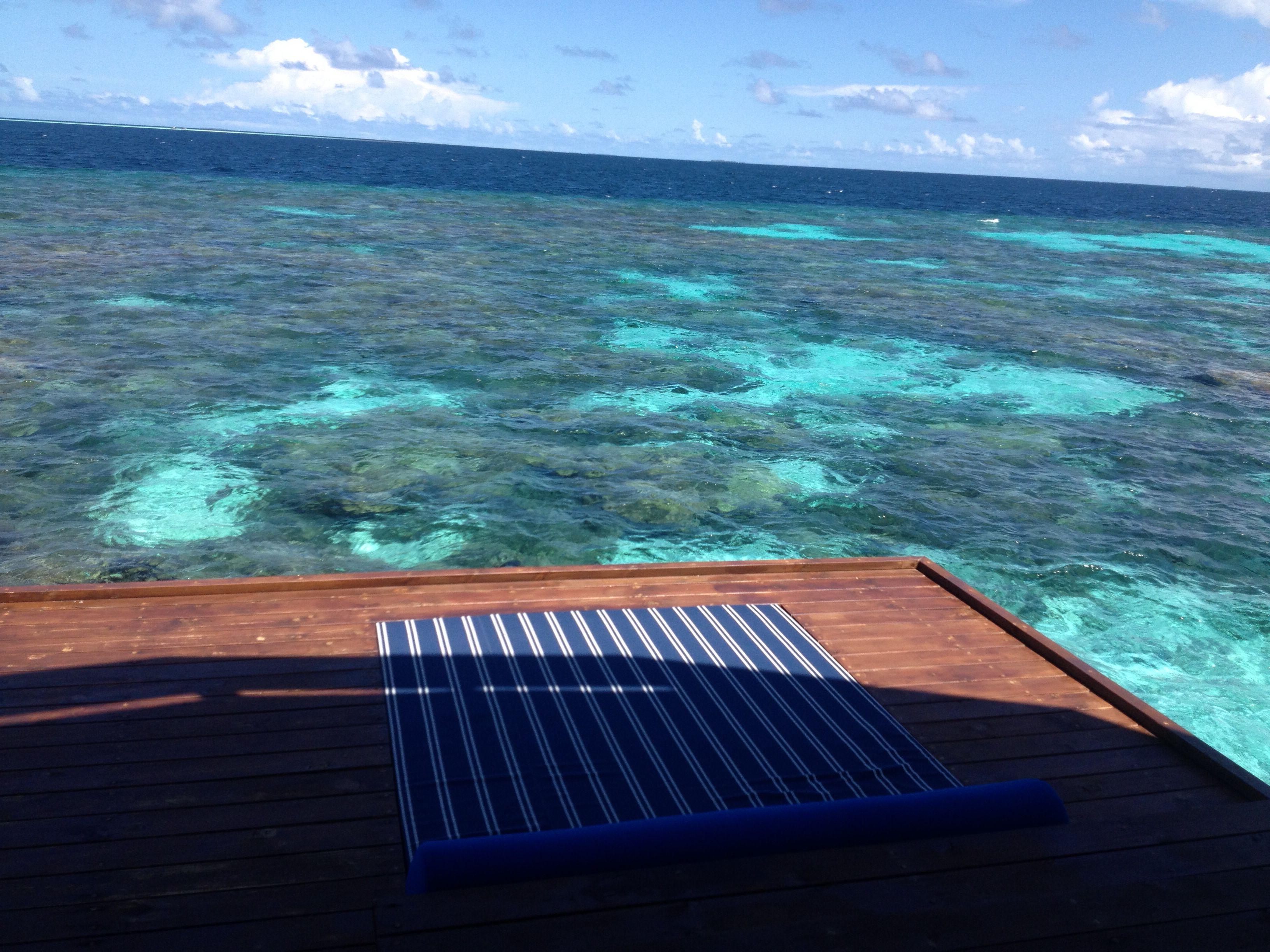 Water deck with sunken mattress