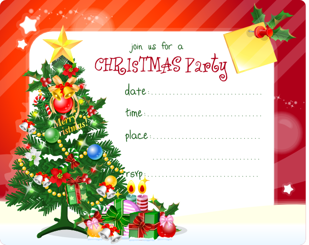 Ideas For Christmas Party Invitations Part - 22: FREE Christmas Party Invitation Printable - Best Gift Ideas Blog