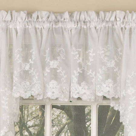 Reef Marine Knitted Lace Kitchen Curtains 24 36 Tier Pair 38 Swag Pair Or 12 Valance Walmart Com Valance Drapes Curtains Kitchen Curtains