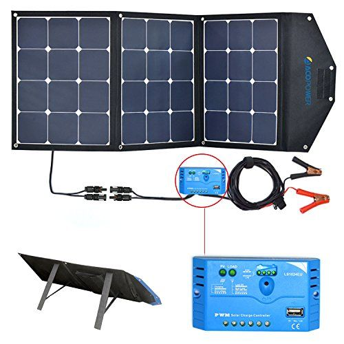 Acopower 12v 105w Foldable Solar Panel Kit Portable Sola Https Www Amazon Com Dp B01m8lcdn2 Ref Solar Generator Solar Energy Panels Portable Solar Panels