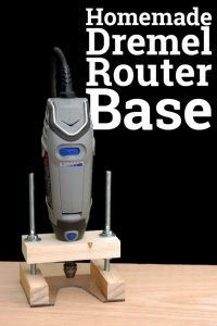 Selber machen Dremel Router Base Easy DIY #woodworkingprojectschair