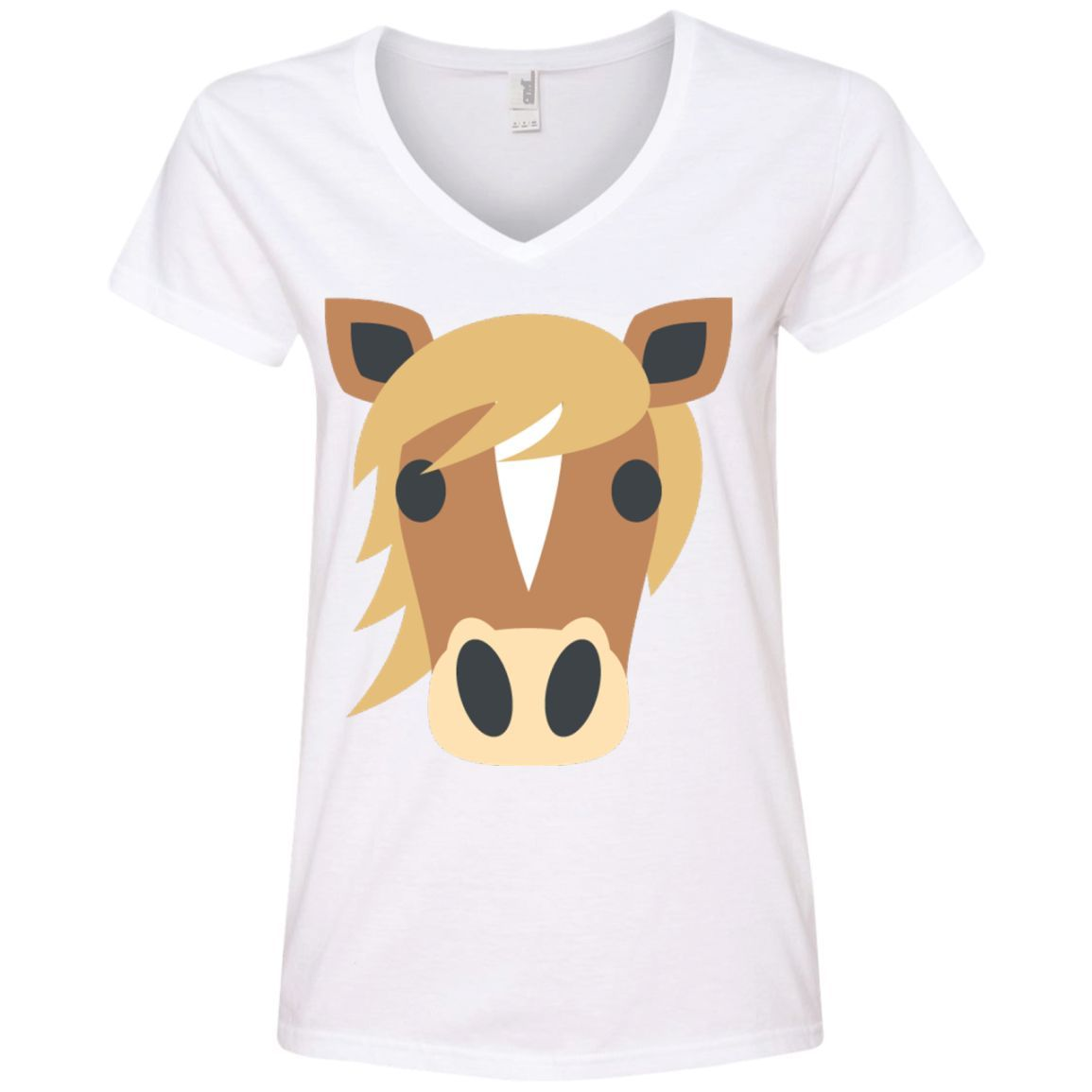 horse face emoji ladies u0027 v neck t shirt horse face emoji and