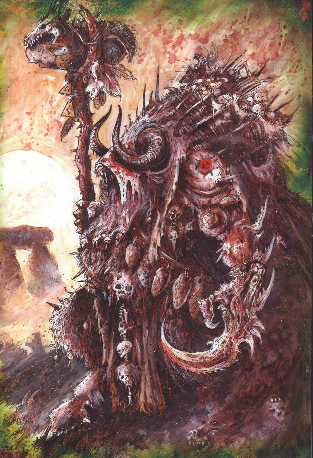 Morghur, par John Blanche #WarhammerBattle #GamesWorkshop   Warhammer  fantasy, Warhammer art, Warhammer fantasy battle