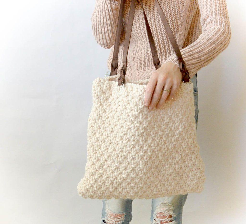Aspen Knit Bag - Free Knitting Pattern Easy Purse | Knitting ...