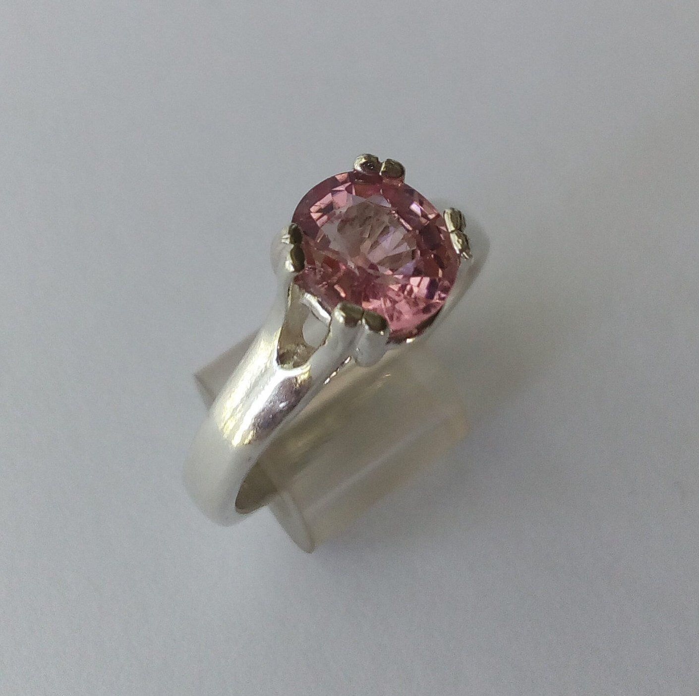 PINK TOURMALINE PEAR Shape 925 Sterling Silver Ring October Gemstone Tourmaline engagement ring Beautiful Gift for her.....