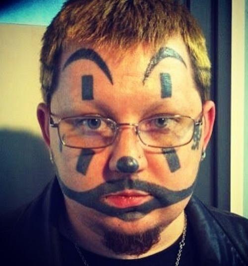 Juggalo Face Tattoo