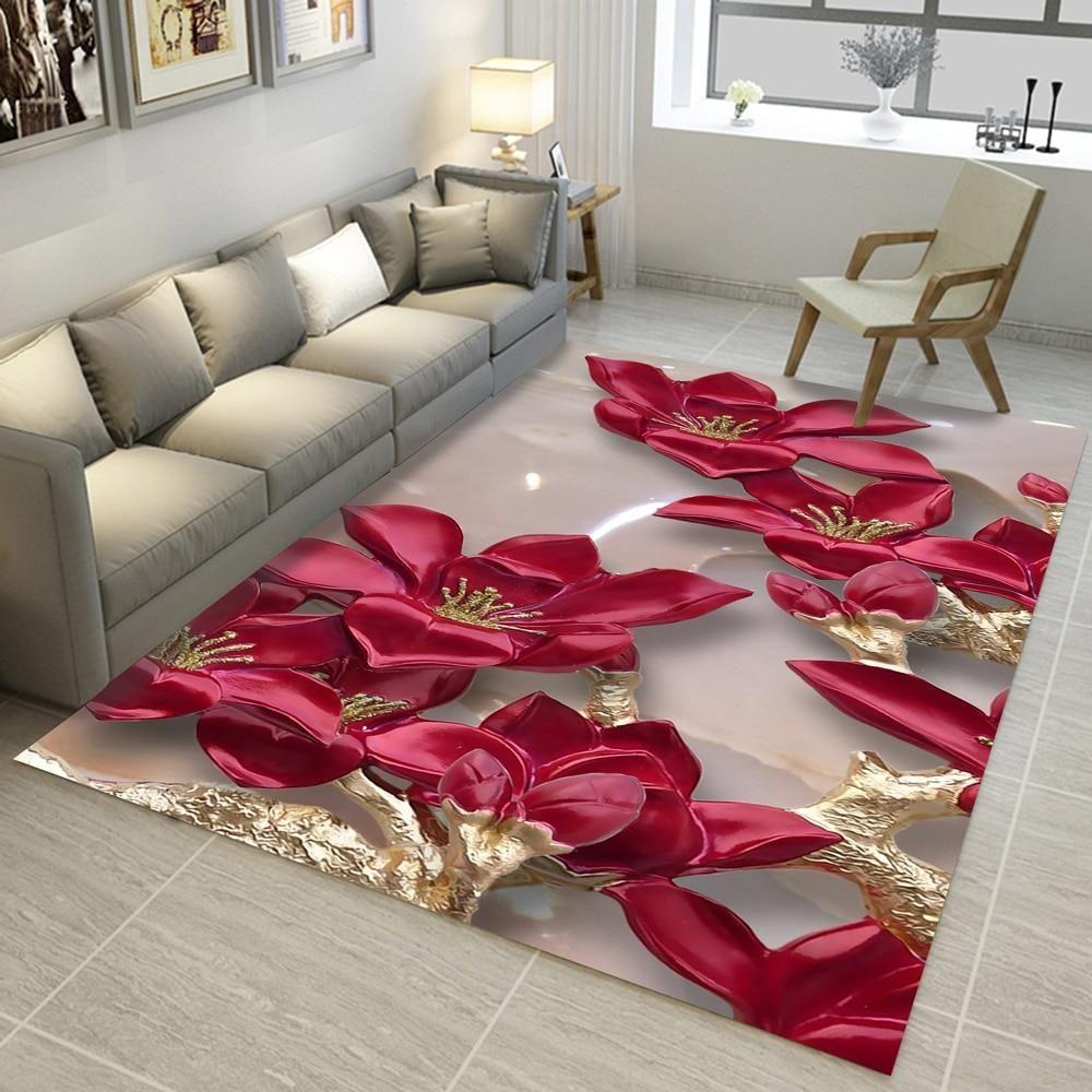 Rectangular Rugs 3d Carpets Carpet Design Living Room Carpet Bathroom Carpet