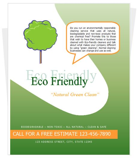Green Cleaning Flyer Flyers Pinterest