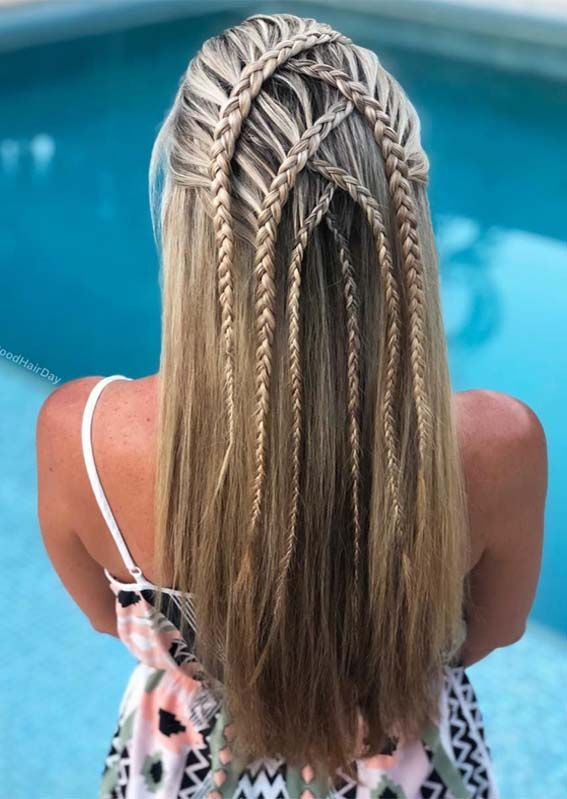Pretty Braids for Long Hair Looks to Wear in 2019