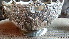 W&S Blackintons Silverplate Antique Ornate Pierced Silver Plate Bowl w/ Handles