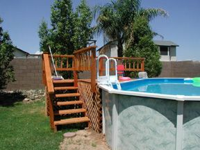 deck for above ground pool - Above Ground Pool Steps Wood