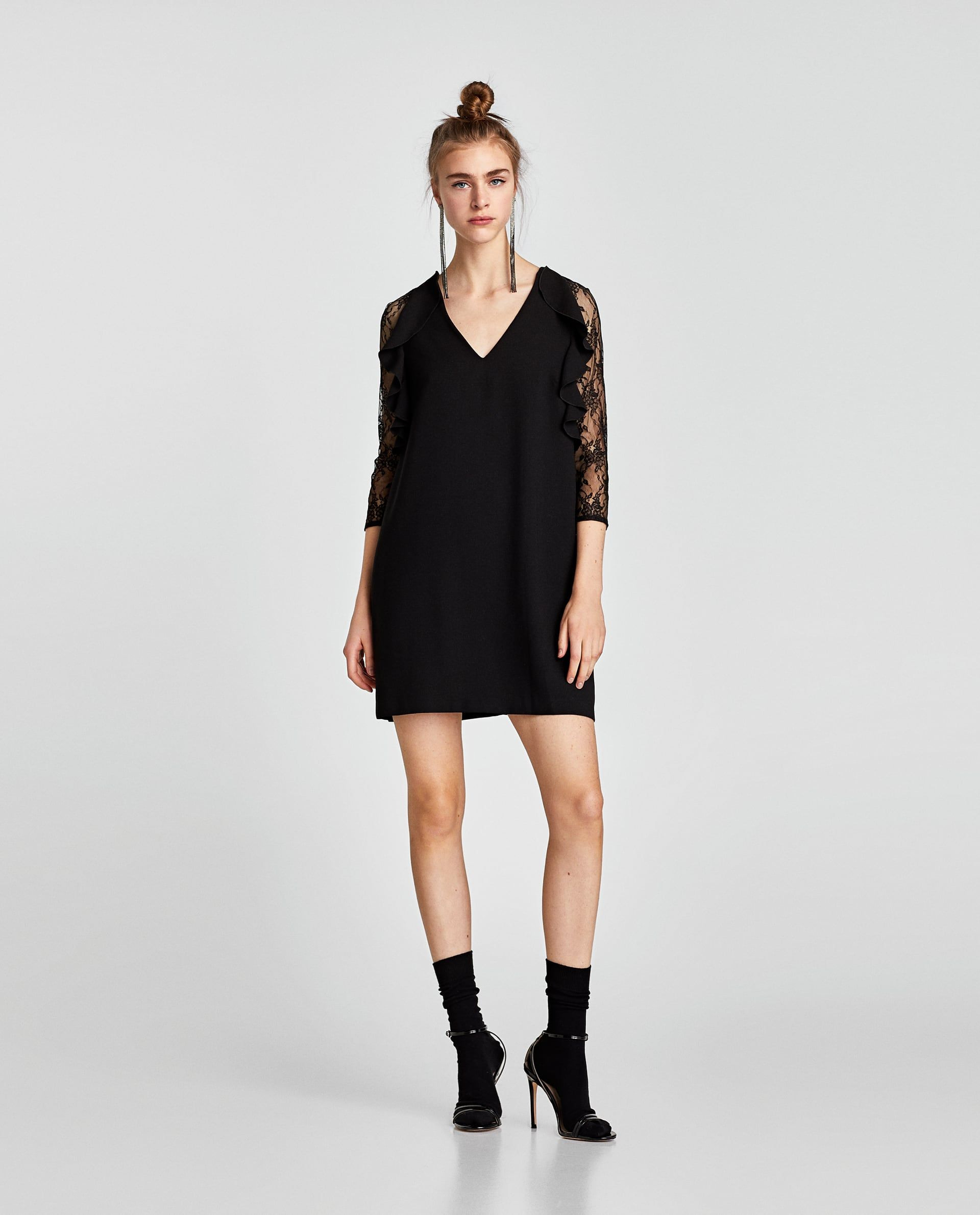 Contrast lace dress zara  Image  of CONTRAST LACE DRESS from Zara  ZARA   Pinterest