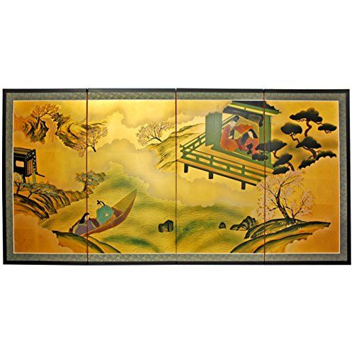 Oriental Furniture 36 Gold Leaf River View ** ** AMAZON BEST BUY ...