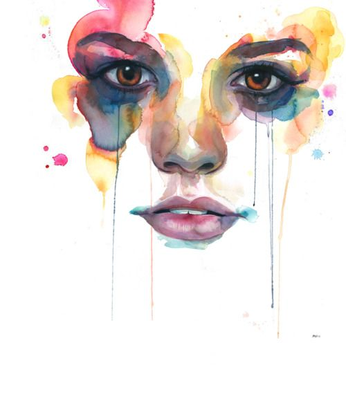 Watercolor Abstract Portrait Universal Mind Speed Painting