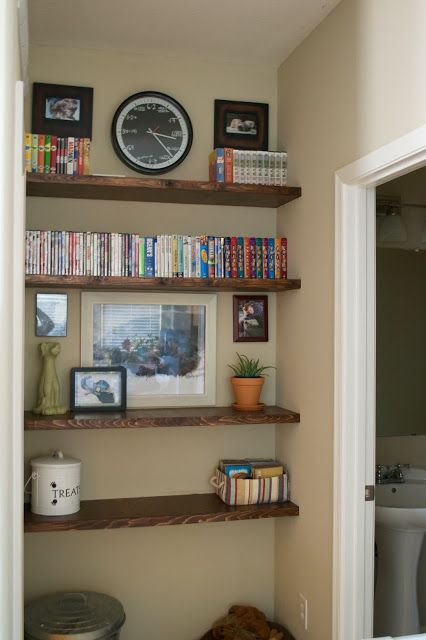 Seesaws and Sawhorses: Defining Wasted Space - Floating Shelves