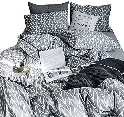 Decent Chester Stripes Luxurious Duvet Covers Reversible Bed Set OR Fitted Sheet