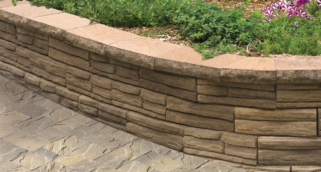 I Like The Look Of Flagstone For The Retaining Wall We