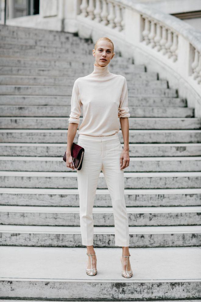 Minimal style- all white ensemble