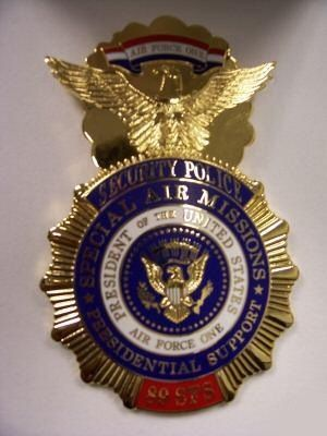 Official USAF Security Forces Air Force One 2005 Badge