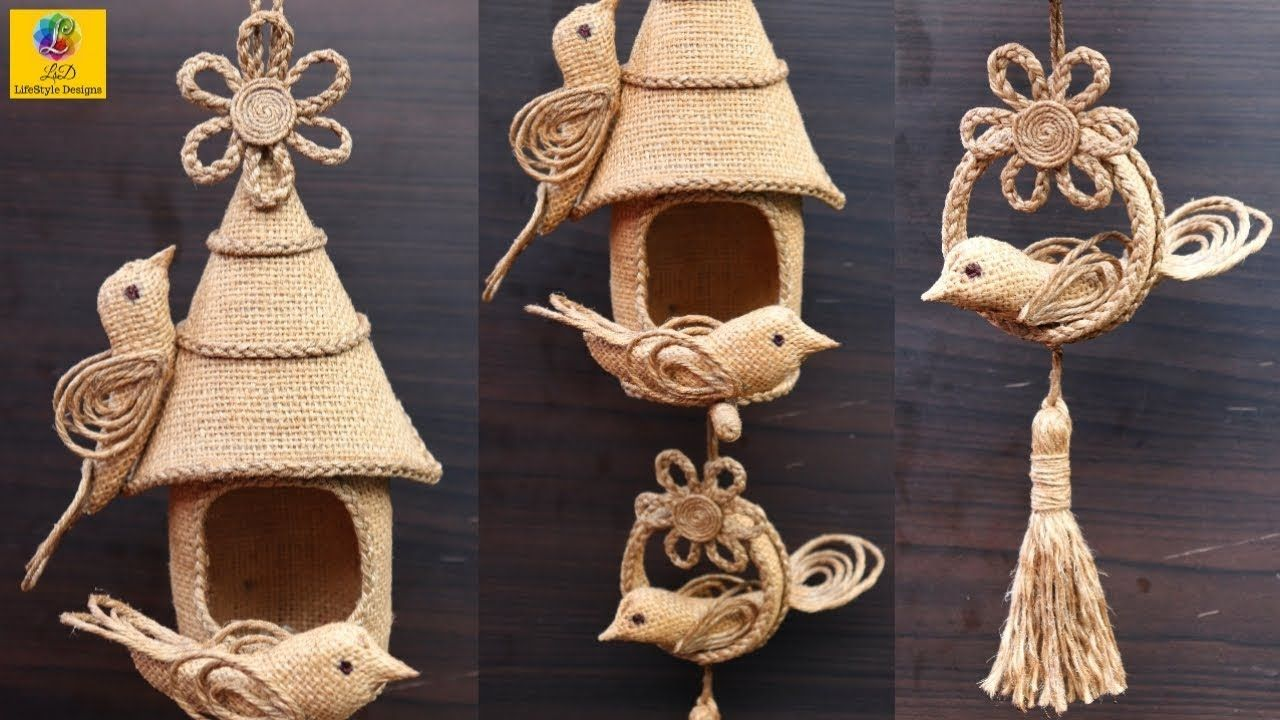 DIY Hanging Showpiece with Jute and Plastic bottle  Home