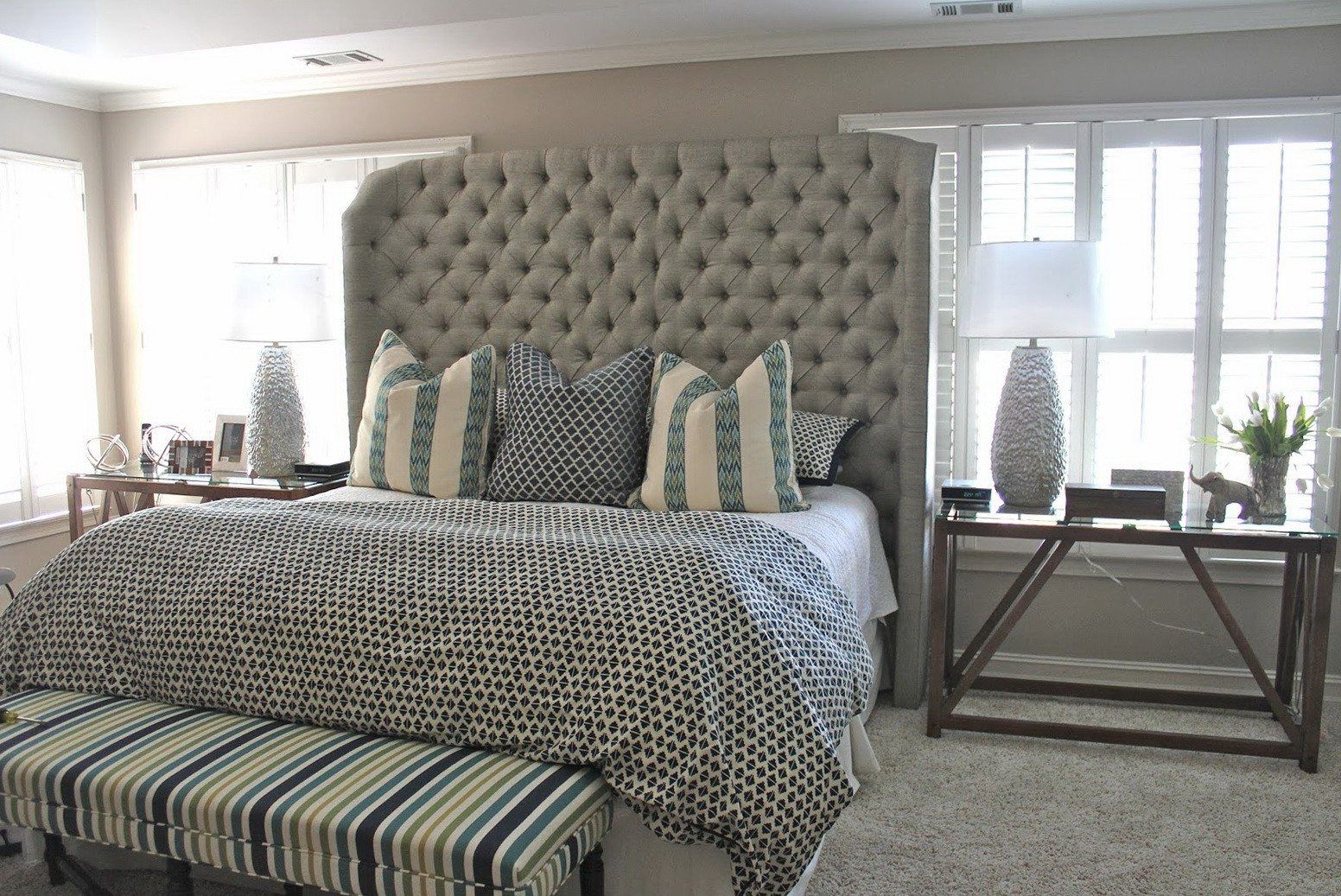 Gorgeous Master Bedroom With Cal King Headboard Wayfair