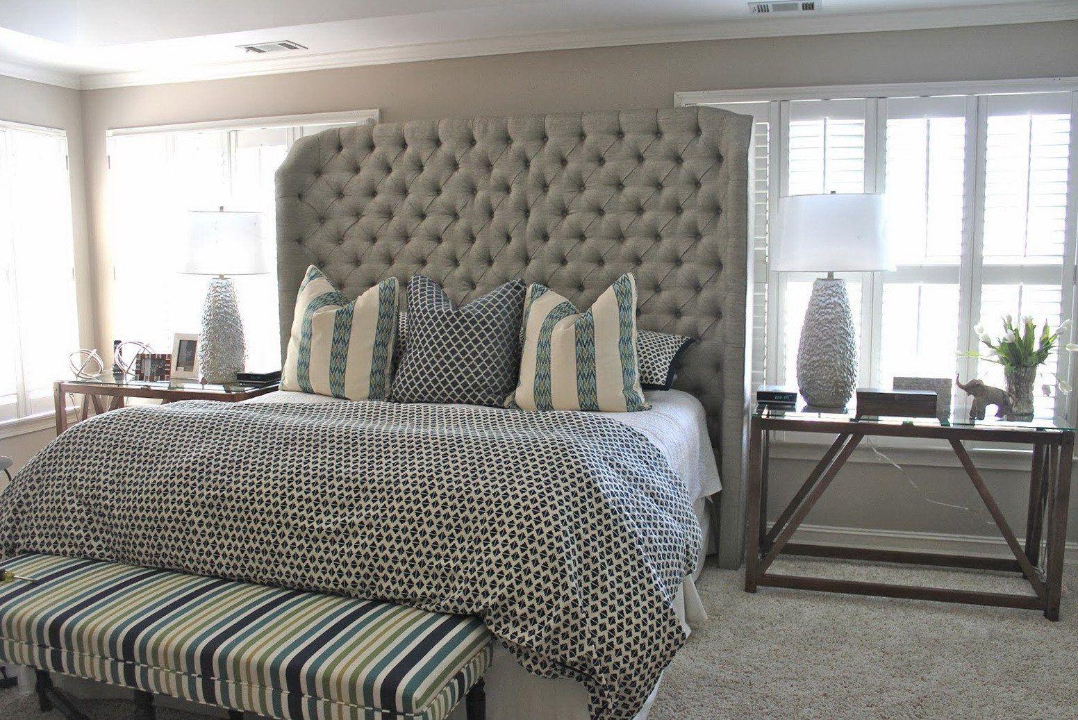 Gorgeous Master Bedroom With Cal King Headboard: Wayfair