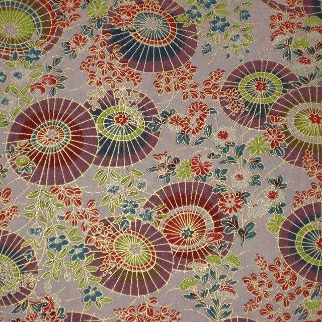 Japanese umbrellas as paper design