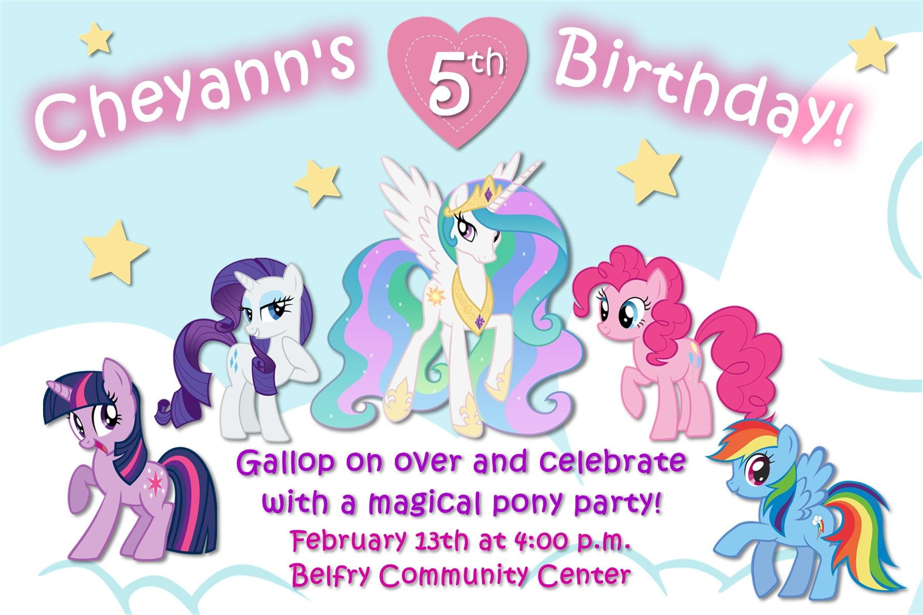 4x6 my little pony birthday invitation contact me via email 4x6 my little pony birthday invitation contact me via email aswiney01yahoo or stopboris