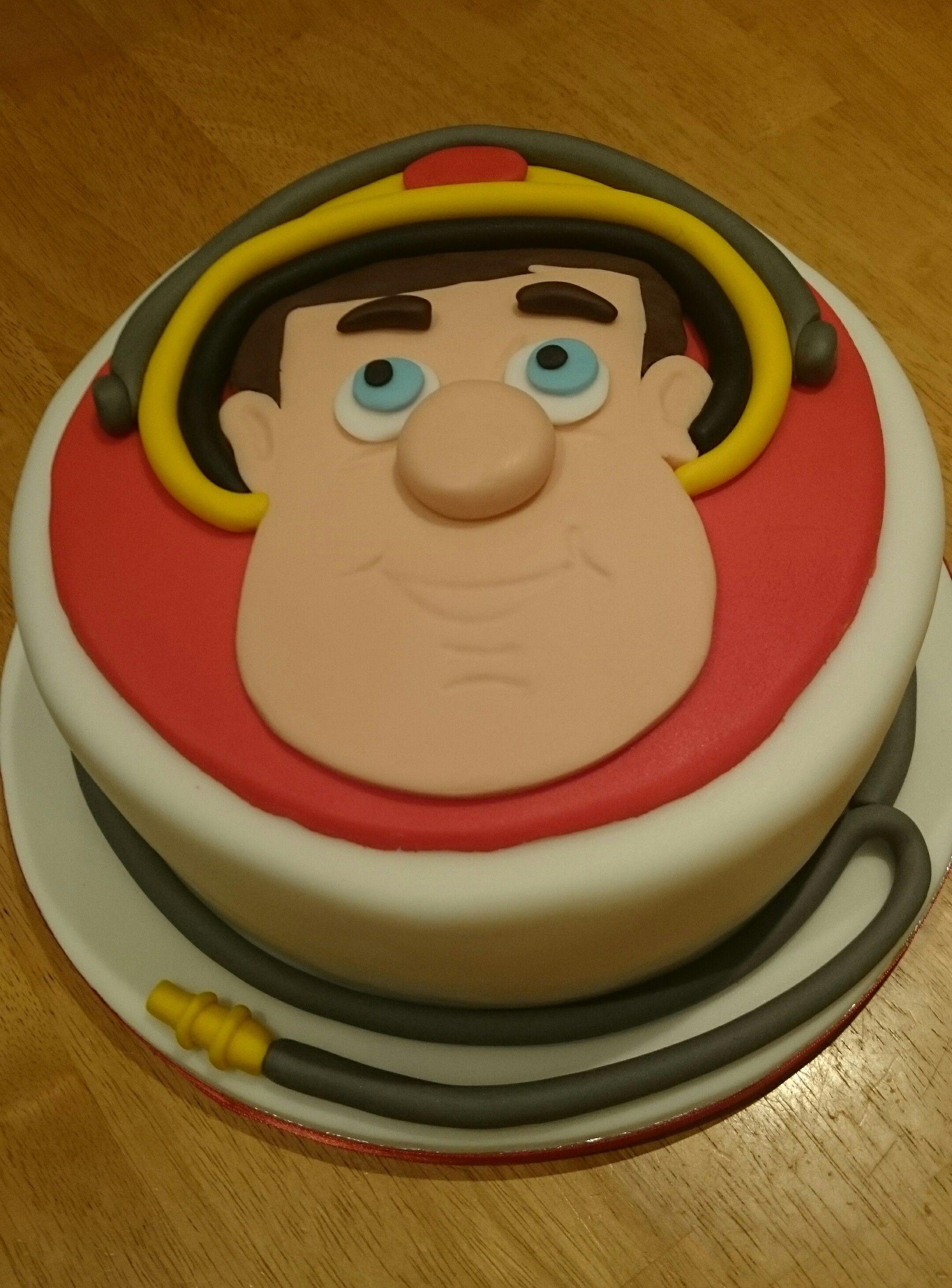 Fireman Sam Relief Cake 1st Birthday Ideas For Grayson Pinterest