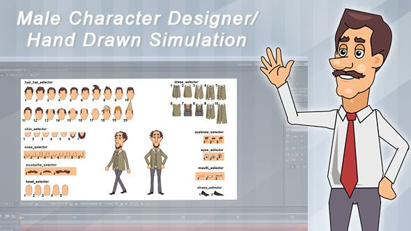 Male Character Designer / Hand Drawn Simulation (Cartoons) After
