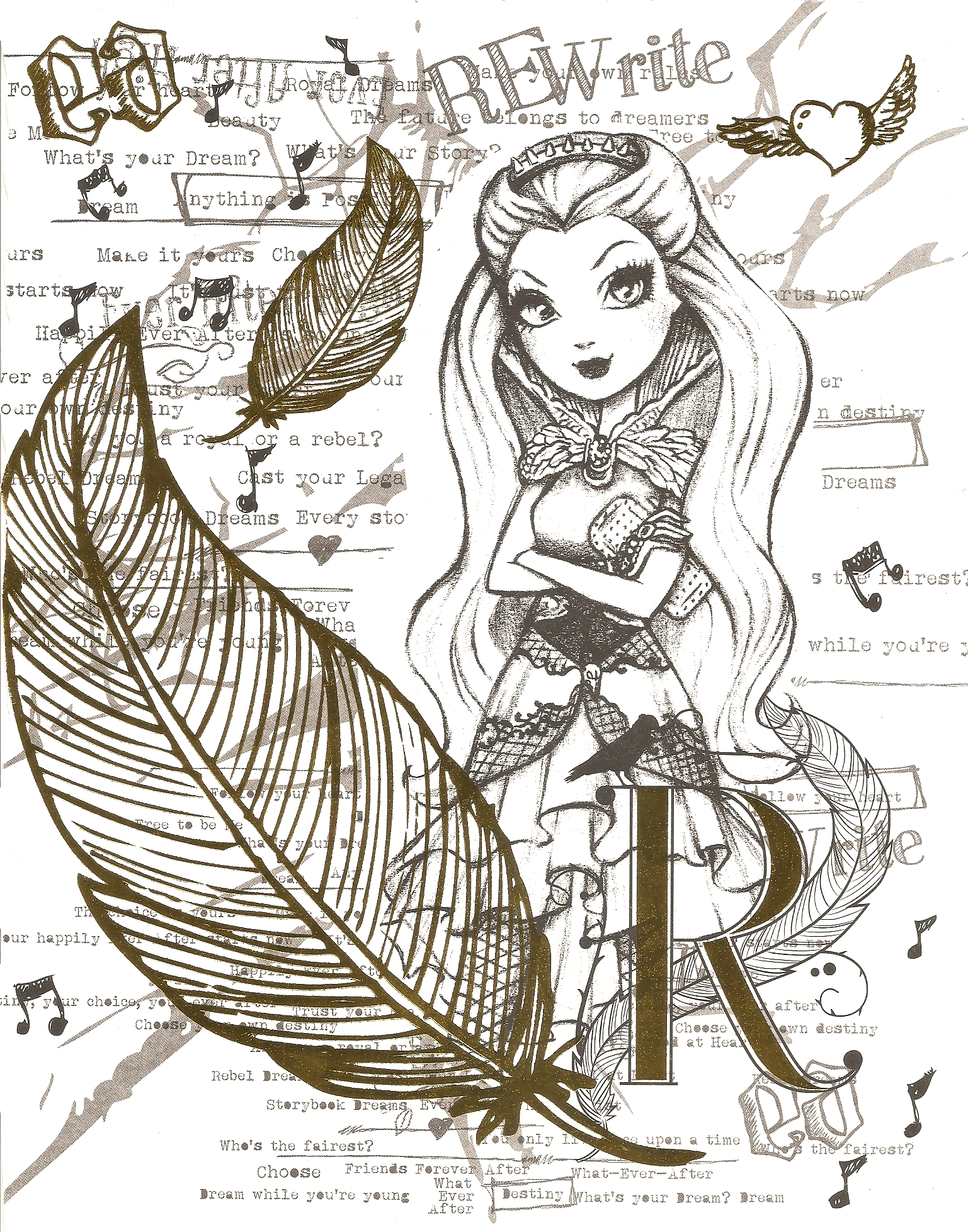 EVER AFTER HIGH COLOR PAGE 3 by obscurepairing.deviantart.com on ...