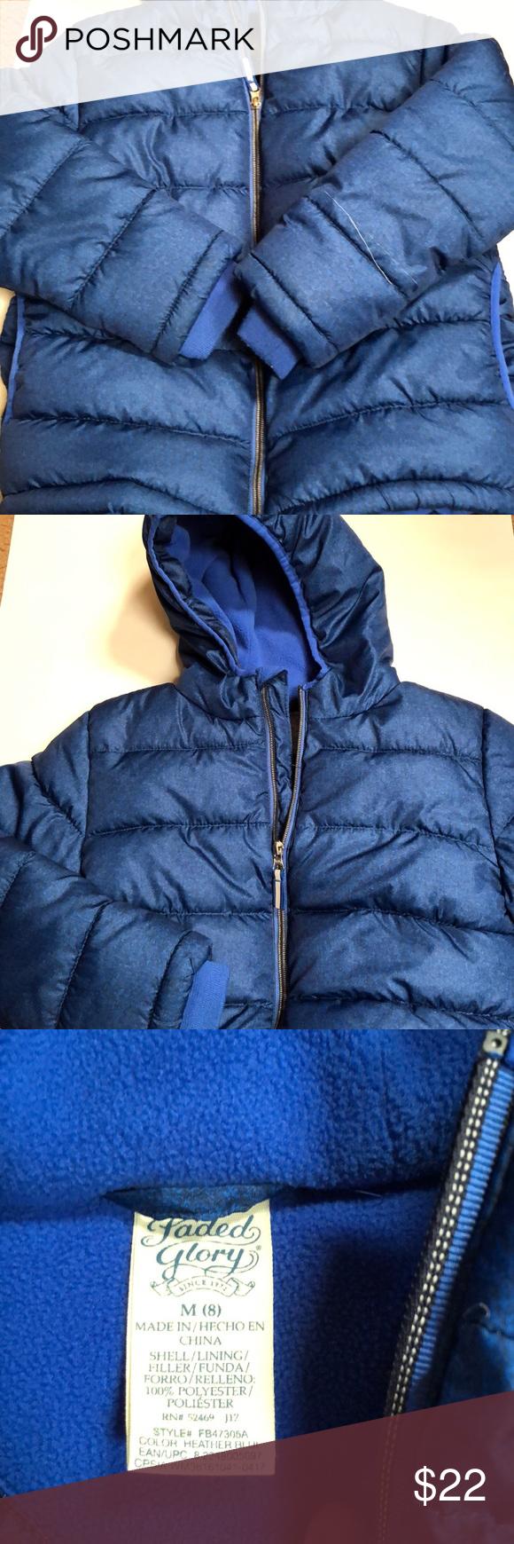 Boys Winter Puffer Jacket Warm Blue Zip Up Puffer Jacket Only Worn A Few Times Only Flaw Is A Couple Tread Pulls Winter Puffer Jackets Jackets Puffer Jackets [ 1740 x 580 Pixel ]