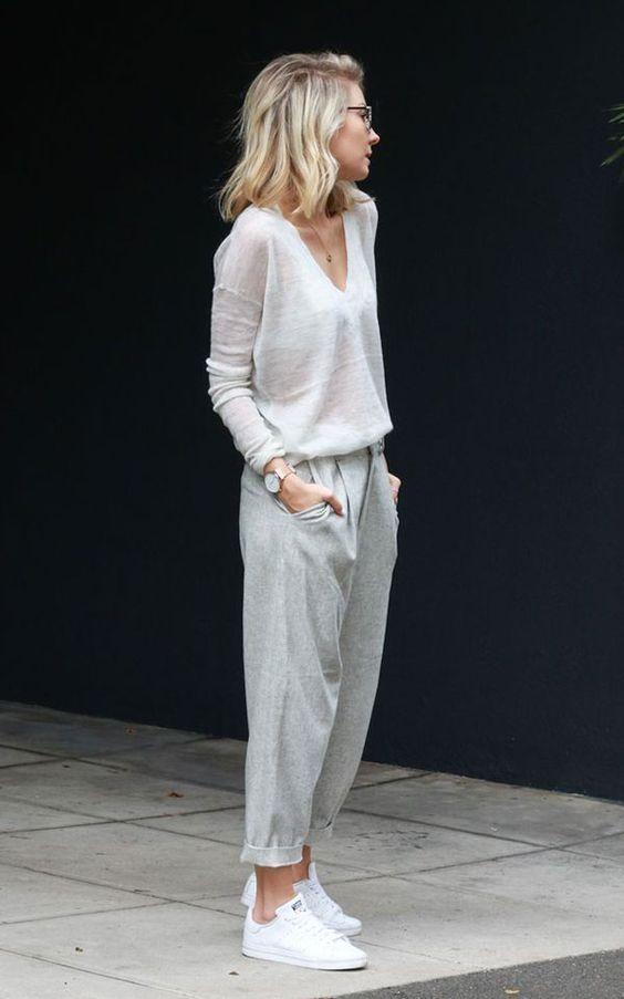 Fashion blogger style - grey monocrhome look