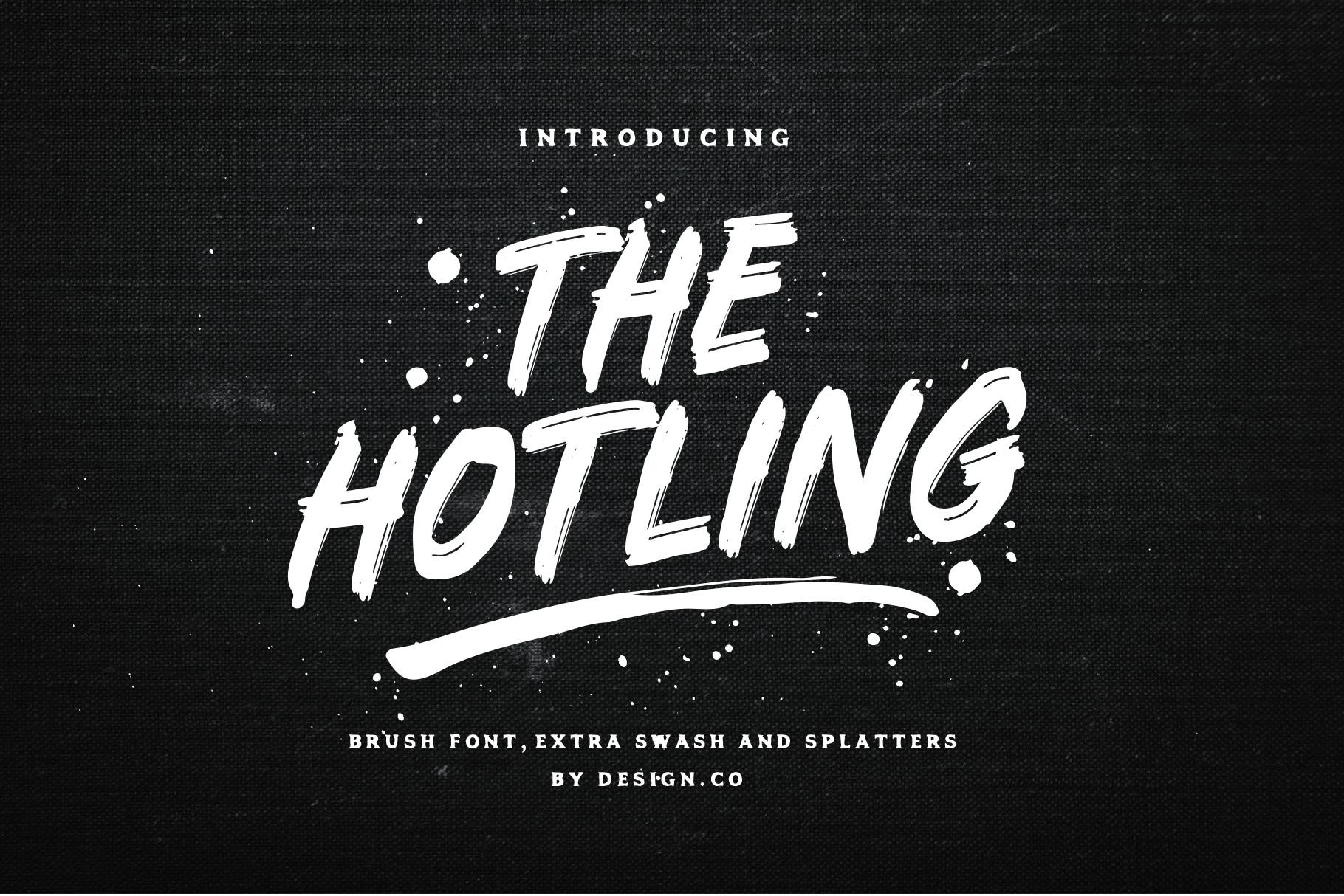 The Hotling Brush Font Extras Brush Font Brand Fonts Lettering