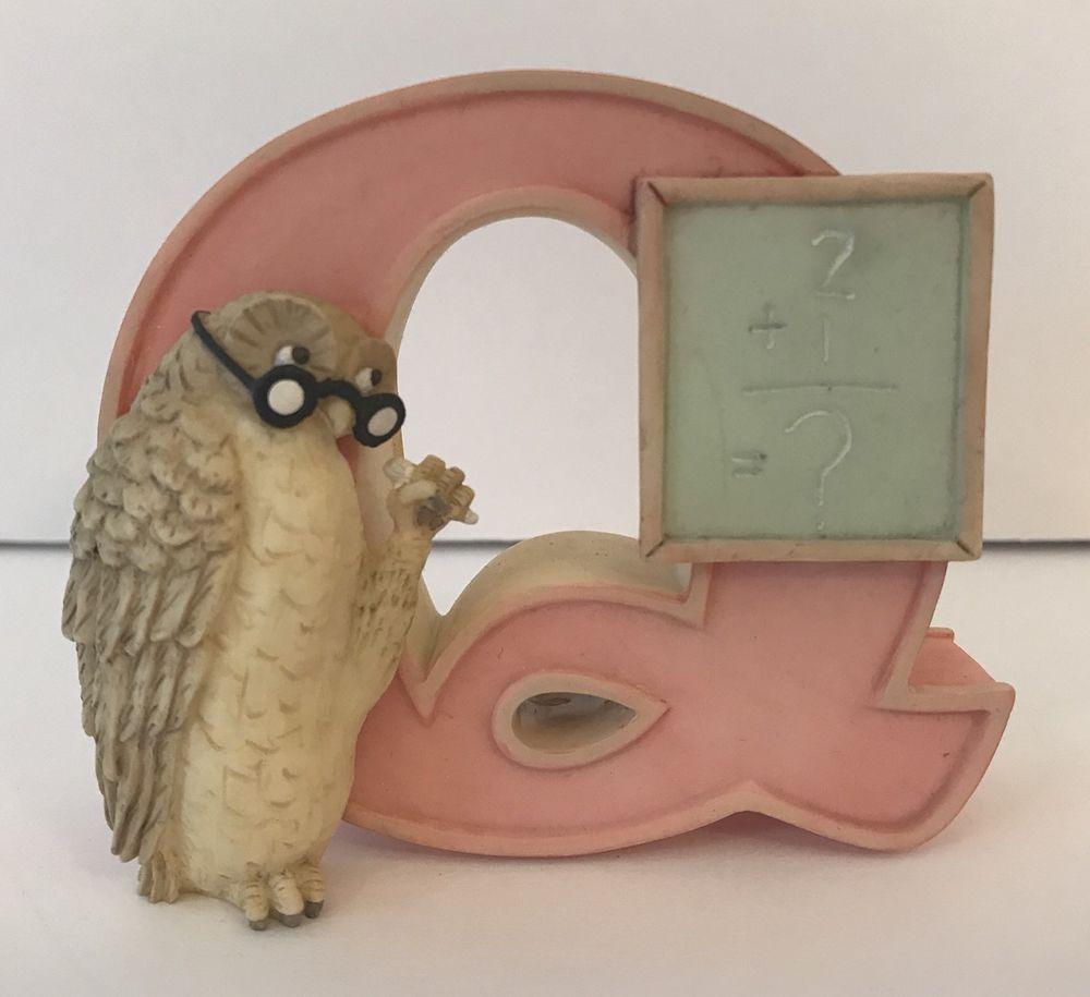 Disney Classic Winnie the Pooh Letter Q Owl Baby Room Decor Nursery Michel  NEW