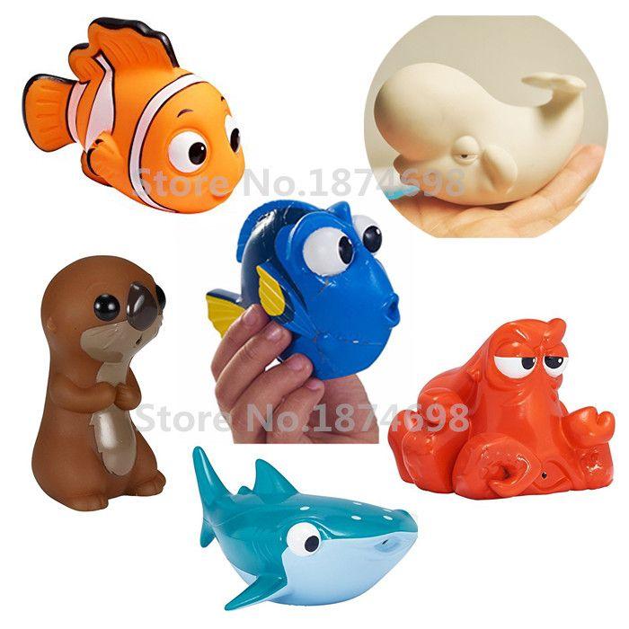 finding dory baby bath toy set of 6 dory nemo hank sea otter destiny