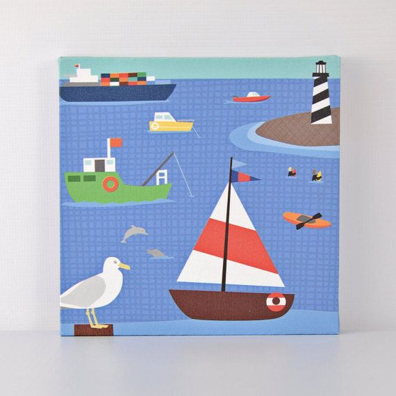 Move Me By Sea  Bay Traffic  Canvas Wall Art by VickyBaroneDesigns