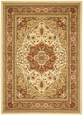 Safavieh Ivory Rust Lyndhurst Lnh330 Rug Traditional Rectangle 10 X 14 Lyndhurst Traditional Rugs Area Rugs