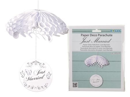 Just Married Paper Parachute Decoration