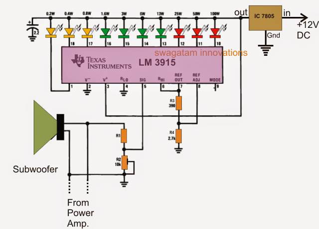Subwoofer Music Level Indicator Circuit - Homemade Circuit Projects ...