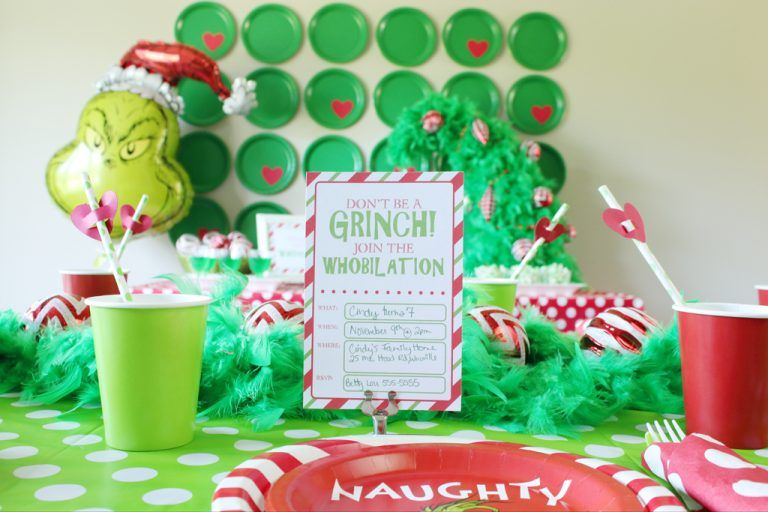 Grinch Party Ideas Grinch Party Pinterest Grinch Christmas