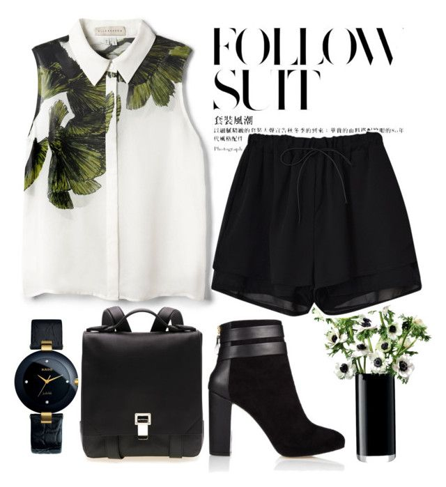 """""""T... comme Traîtrise"""" by marsdenf ❤ liked on Polyvore featuring Elle Sasson, Rado, Proenza Schouler, Coye Nokes and LSA International"""
