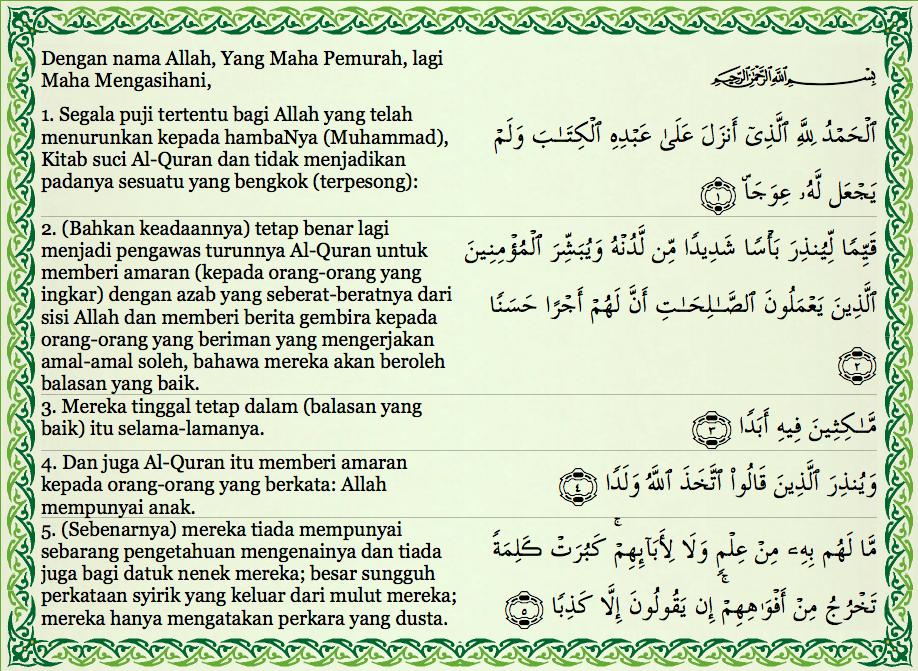 Image Result For Surah Al Kahfi 100 110 In 2019 Quran Text