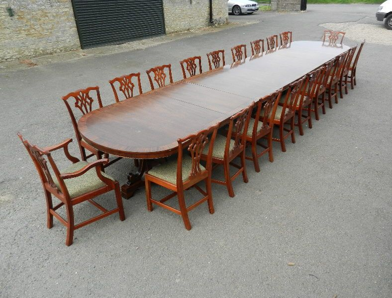 Antique Furniture Warehouse Large 6 Metre Antique Table 20ft Vintage Regency Mahogany Boardroom Dinin Dining Table Large Dining Table Antique Dining Tables