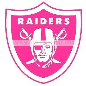 Details about RAIDERS PINK car window sticker decal FOR ...