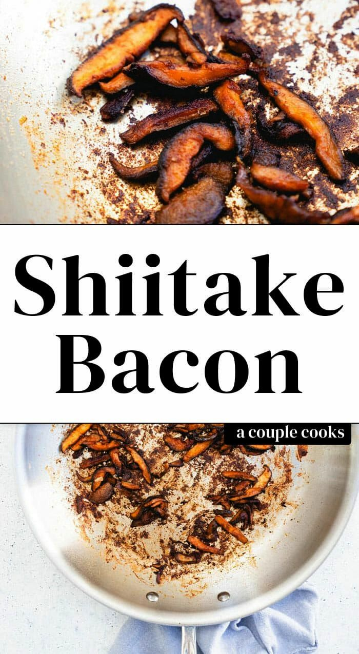 for smoky and salty are satisfied in this shiitake bacon recipe! Use this genius vegan mushroom bac
