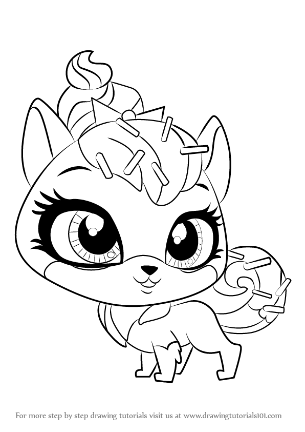 Learn How To Draw Sugar Sprinkles From Littlest Pet Shop Littlest Pet Shop Step By Step Drawing Tutorials Little Pet Shop Coloring Pages Little Pets