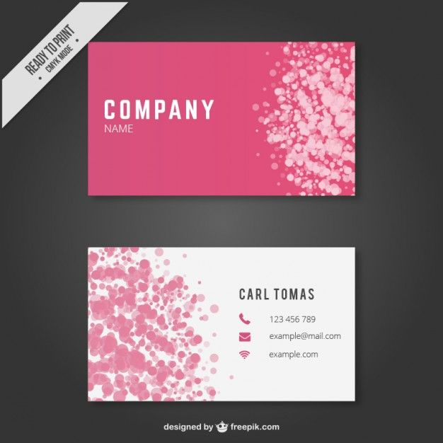 Download Abstract Business Card Template For Free Free Printable Business Cards Free Business Card Templates Pink Business Card