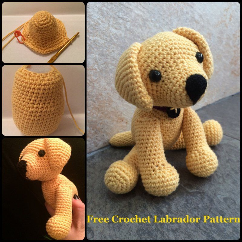 How to Crochet Amigurumi Dog with Free Pattern Crocheted ...